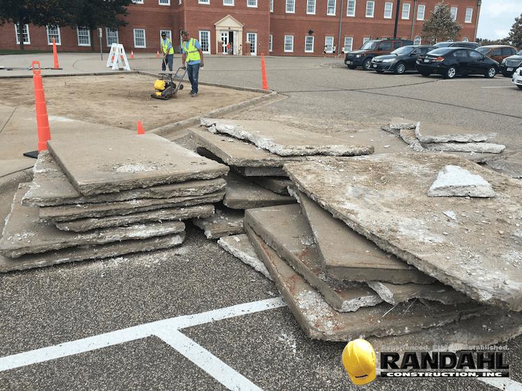 Mn concrete sidewalk and curb repair randahl for Removing concrete walkway