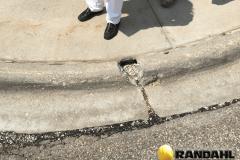 damage concrete curb