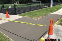 school concrete sidewalk