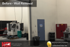 warehouse wall removal