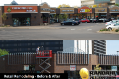 retail remodeling before after