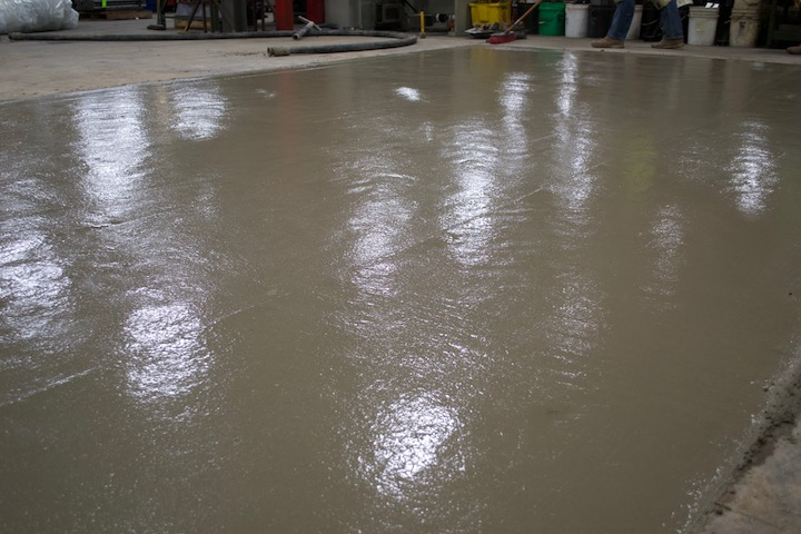 concrete machine pad