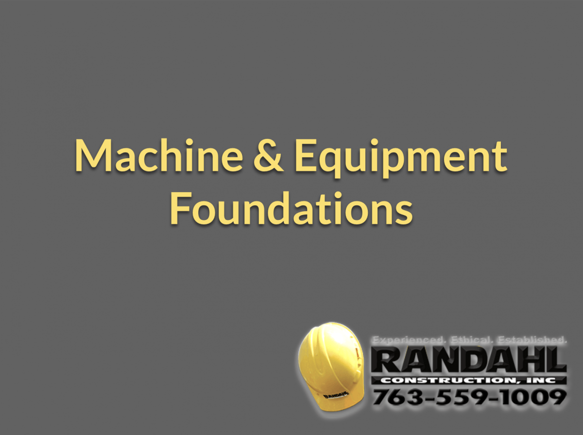 Machine Foundation Contractor