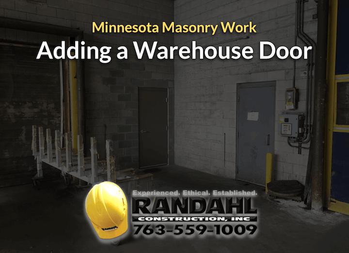 add warehouse door MN contractor
