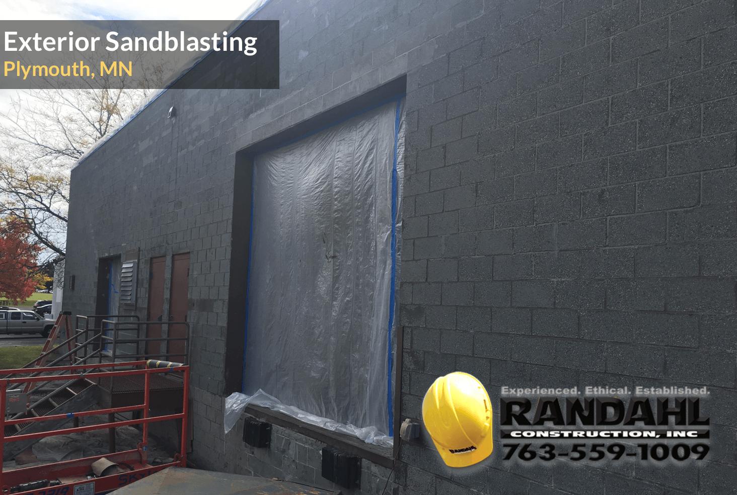 exterior sandblasting contractor