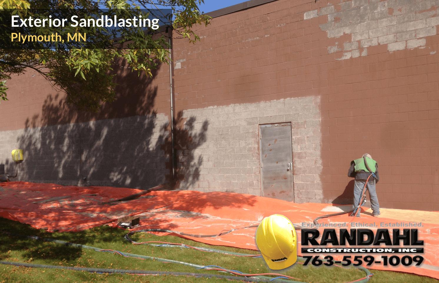 exterior sandblasting mn