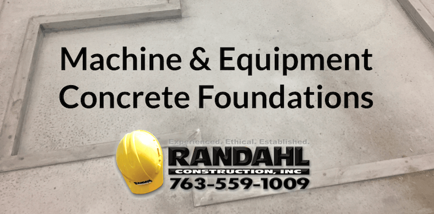machine concrete foundations