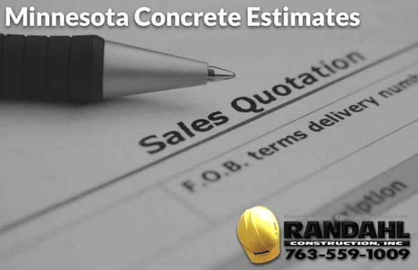 Minnesota concrete estimates
