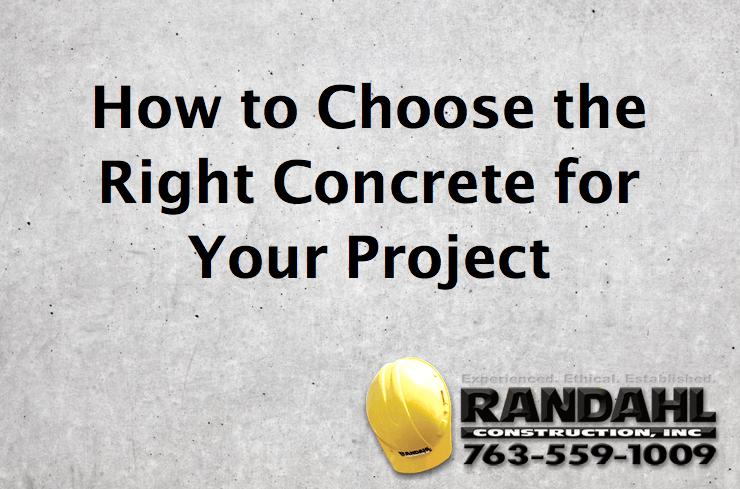 MN Concrete Contractor - Randahl Construction 763-559-1009
