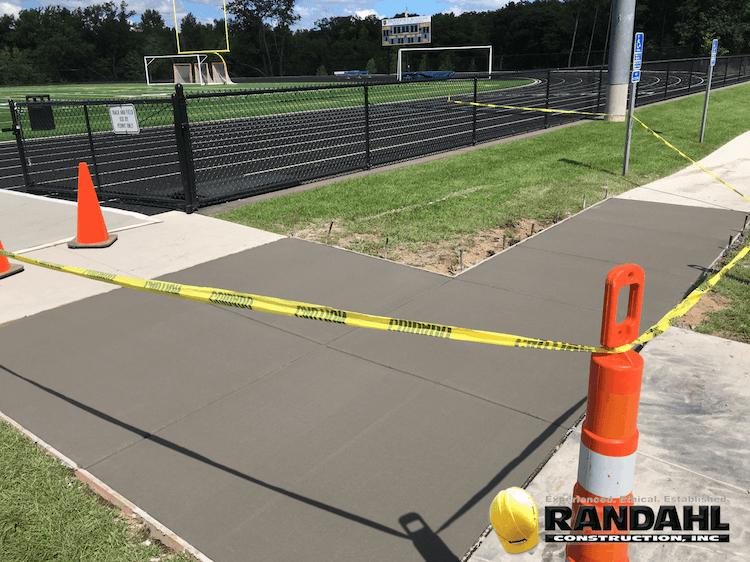 school concrete sidewalk repair