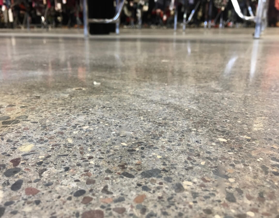 shiny retail flooring concrete