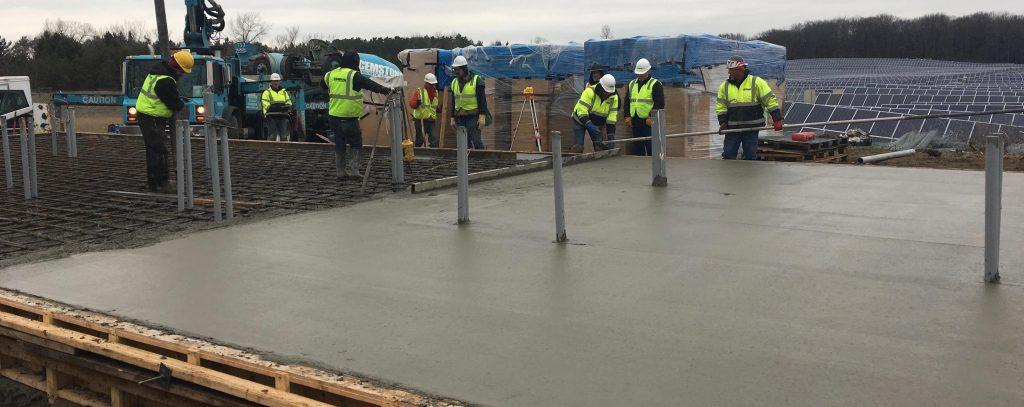 concrete solar pads