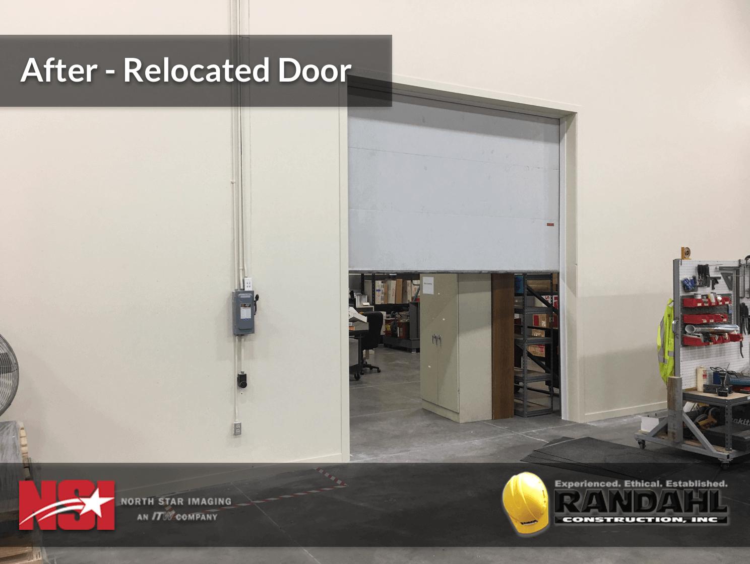 Warehouse Garage Door Relocation